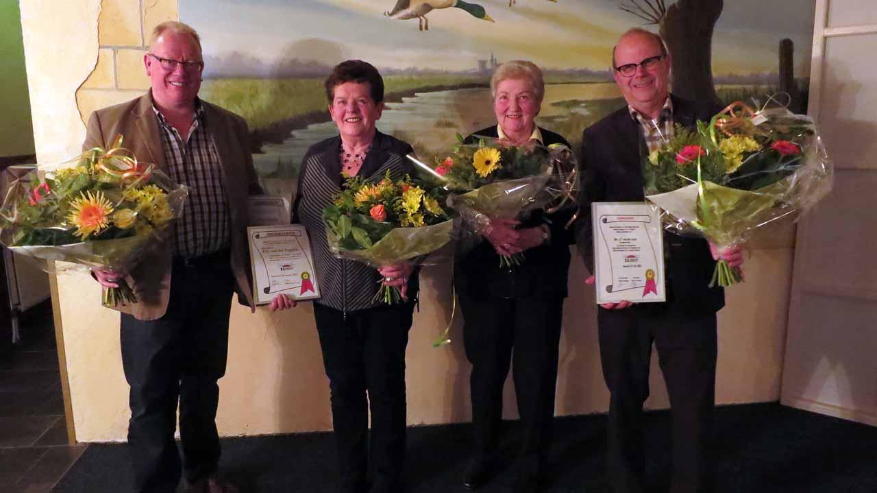 Van links naar rechts: Jos van der Heijden, Paula van der Stappen, Lida Bakker en Jan van der Leest