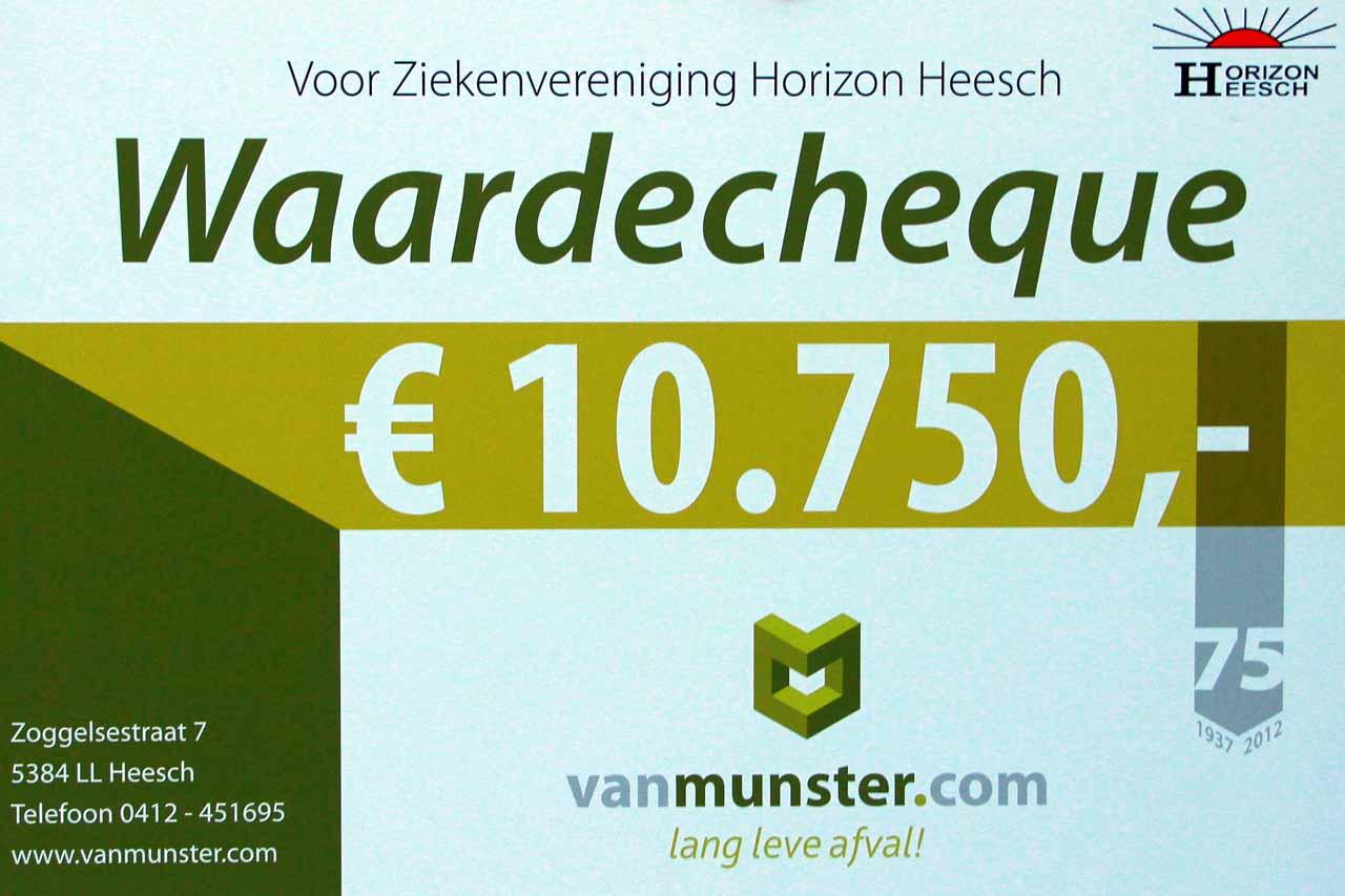 Waardecheque Van Munster