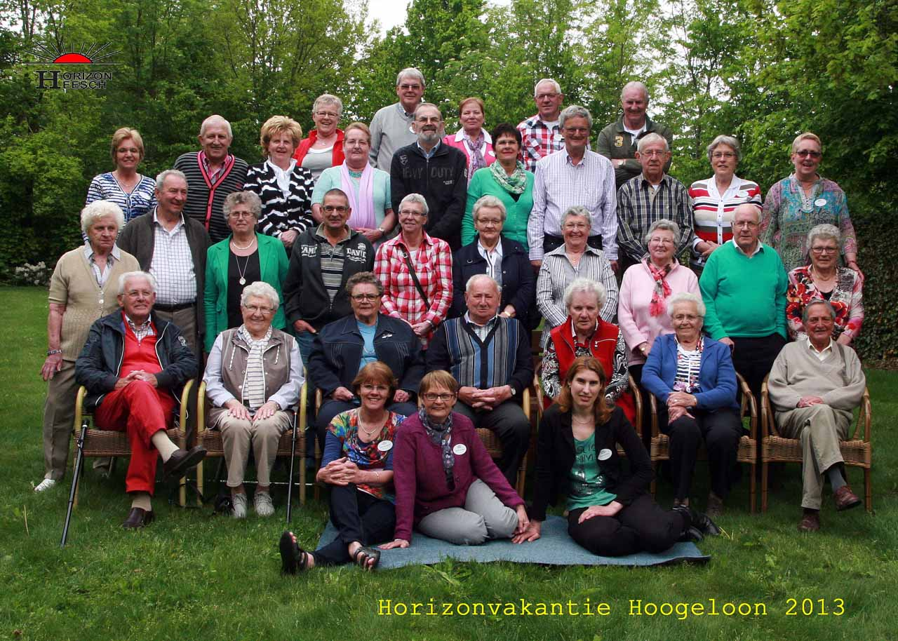 Groepsfoto vakantieweek