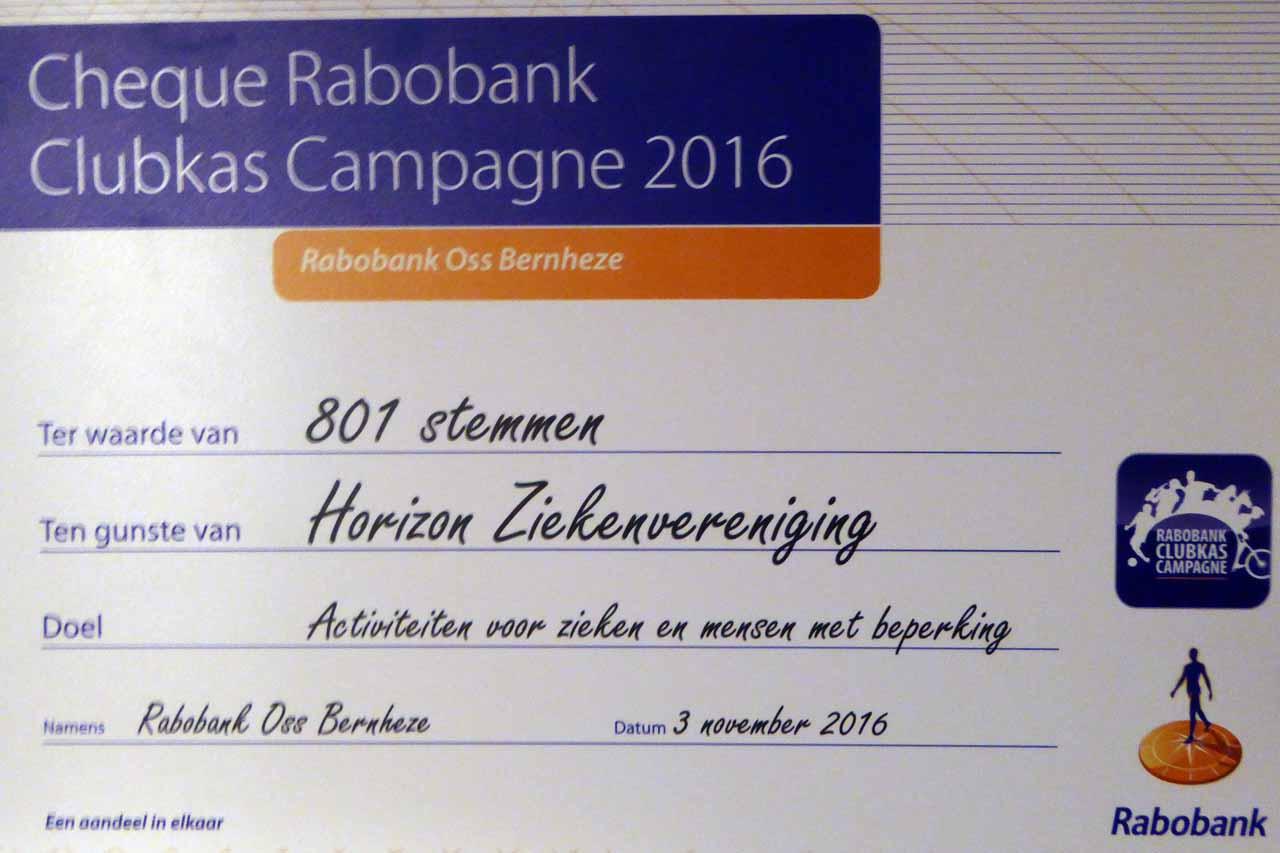 Winnaar Rabo Clubkas Campagne 2015